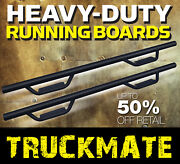 05-21 Fit Toyota Tacoma Double Cab Blk Running Boards Side Step Boards Nerf Bars