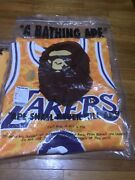 Bape X Mitchell And Ness Nba Lakers Authentic Jersey Rare And Limited In Hand