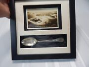 Framed And Matted Kittansett Club And Beverly Yacht Club Marion Ma. Post Card/spoon