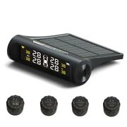 Car Tpms Tire Pressure Monitoring System Solar Power Charging Lcd Display