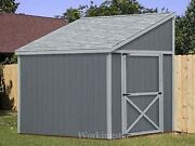 6and039 X 8and039 Slant / Lean To Style Shed Plans / Building Blueprints And Guides E0608