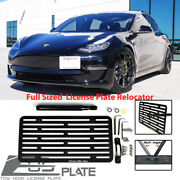 For 2016 And Up Tesla Model 3 Tow Hook License Plate Mount Full Sized Relocator