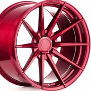 20 Staggered Rohana Rf1 20x10 20x12 Gloss Red Concave Wheels Rims Forged
