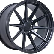 20 Staggered Rohana Rf1 20x9 20x12 Black Concave Wheels Rims Forged