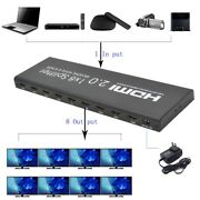 4k Hdcp Hdmi Splitter 1 In 8 Out Auto Edid With Dts Lpcm 7.1 Audio Extractor