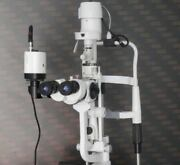 Opthalmic Instrument Haag Streit Type 5 Step Slit Lamp With Wooden Top