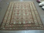 4and039 X 4and039 8 Antique Hand Made Caucasian Kazak Shirvan Wool Rug Collectible Nice