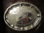Concordia Kansas Farmers And Merchants State Bank Plated Metal Tray Not Silver