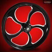 2008-2019 Harley Black Contrast 26 Inch Front Wheel And Floating Rotors Maze