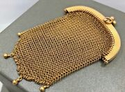 Vintage 18k Gold Mesh Coin Purse - French - Has Eagle Head Hallmark For 18k