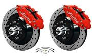 Wilwood 64-72 Chevelle A-body Front Disc Big Brake Kit Drilled 12 W/ Flex Hoses