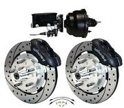 Wilwood 64-72 Chevelle A-body Power Front Disc Big Brake Kit Drilled 12