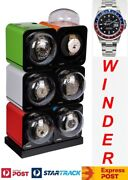 Boxy Fancy Brick Automatic Watch Winder System For Six Watches-model6fb-e2-clrs