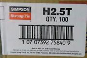 100 Pk Simpson Strong-tie Galv Steel 18 Ga Rafter To Top Plate Brace Tie H2.5t