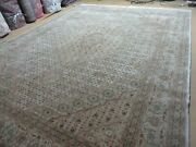 8and039 7 X 11and039 5 Vintage Hand Made Pakistan Wool Rug Silk Accent Nice