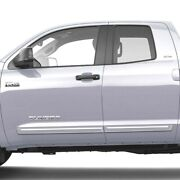 Painted Body Side Moldings With Chrome Trim For Tundra Double Cab 2007-2021