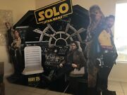 Star Wars Solo Movie Display 2018. Interactive Display Complete With Figures