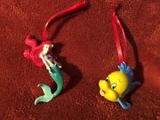 Disney Christmas Tree Decorations Baubles Ornament Ariel And Flounder