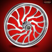 2000-2020 Harley Custom Chrome 21 Inch Front Wheel And Floating Rotors Nightmare
