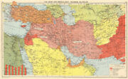 Ww2. British/free French Middle East And Oilfields. 'dibai'/dubai 1942 Old Map