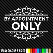 By Appointment Only Decal Sticker - Business Sign - Door Store Window Decal
