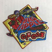 Big Apple Circus Clown Logo Patch 2008 2009 Embroidered Trombone Play On Music