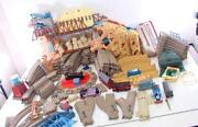 Huge Lot Train And Tracks Thomas Friends Turntable Tidmouth Action Canyon Bridges