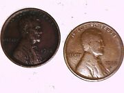 1912 And 1912s Lincoln Wheat One Cent Coins Nice
