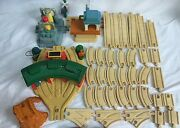 Lot Of 67 Pcs Large Thomas And Friends The Tank Take Along Diecast Train Tracks