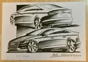 Audi A3 Pencil Sketching By Dany Garand - 1 Of 250 Pieces