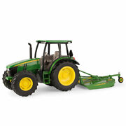Ertl John Deere 116 Scale Model 5125r Tractor With Mx7 Rotary Cutter