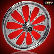 2008-2019 Harley Chrome 23 Inch Front Wheel Floating Rotors Wizard