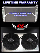 Kks Radiator And Shroud And 16 Fan Fit 88-00 Chevy Gmc C/k 1500 2500 3500 Suburban