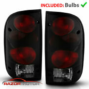 1995-2000 Replacement Dark Smoke Tail Light Pair For Toyota Tacoma W/bulb+socket
