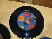 5 Dibbern New Glass Christmas Holiday Plates New Cookie Tray Serving Salad Blue