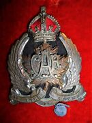Canadian Air Force Caf Officer's Cap Badge 1920-1924, Scarce