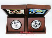 2014 Disney Mickey Mouse Steamboat Willie And Donald Duck 80th Anni Silver Coins