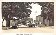 Otterville Ont. Main Street Storefronts Coca-cola Truck, Real Photo Postcard