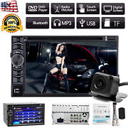 Touch Screen Car Stereo Dvd Cd 2 Din A5 System Hd Radio Player W/ Backup Camera