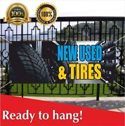 Tires New Used Banner Vinyl /mesh Banner Sign Auto Repair Clearance Car Service