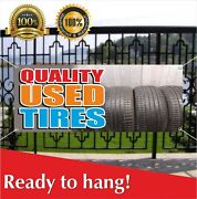 Quality Used Tires Banner Vinyl / Mesh Banner Sign Auto Repair Clearance Car Ac
