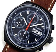 Gallet Original Black Dial Cal.7750 Automatic Chronograph 1980and039s