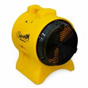 Zoom 1/3 Hp Ventilator Fan Floor Dryer Air Mover 8 Ductable 2-in-1 Function