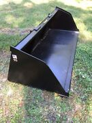 New 96 Skid Steer/tractor Snow/mulch 8and039 Bucket - For Bobcat Case Cat And More