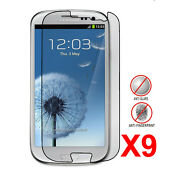 9packs Anti-glare Matte Screen Protector For Samsung Galaxy S3 I9300