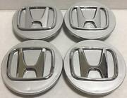 2006-2020 Honda Silver 2.75 Center Caps 69mm Fits Nearly All Models