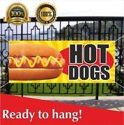 Hot Dogs Banner Vinyl /mesh Banner Sign Many Sizes Fast Carnival Food