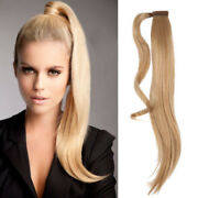 14-30'silk Straight Wrap- Ponytail 100 Real Remy Human Hair Clip In Extension