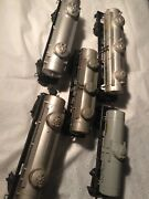 Lot 5 Lionel Post War Sunoco And Utility Dome Tank Cars S6465x26035 6415 284