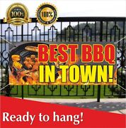 Best Bbq In Town Vinyl / Mesh Banner Sign Carnival Food Barbeque Pulled Pork